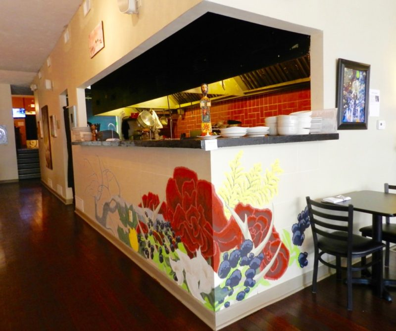Beautiful Mural Looking Into The Kitchen Prep Area
