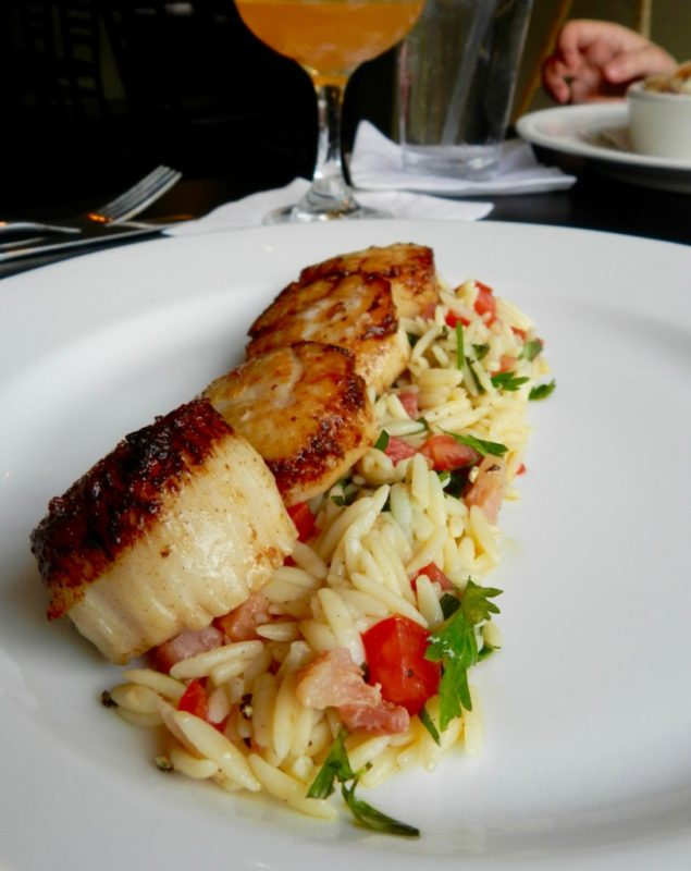 Scallops With Orzo